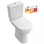 WC monobloc Pack O.NOVO sortie H blanc céramic + siège Softclosing + Quickrelease